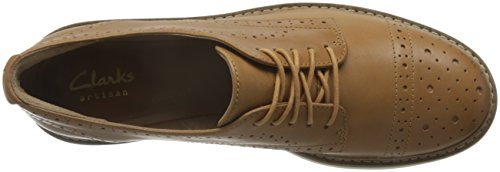 de Shine Oxford Clarks Cordones Mujer Tan Lea Light para Marrón Glick Zapatos anxfTqT1