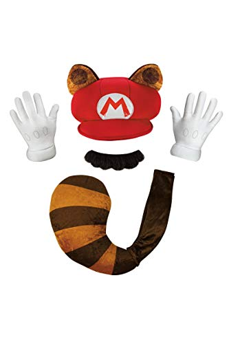 Super Mario Bros Nintendo Mario Raccoon Instant Costume Kit Adult ()