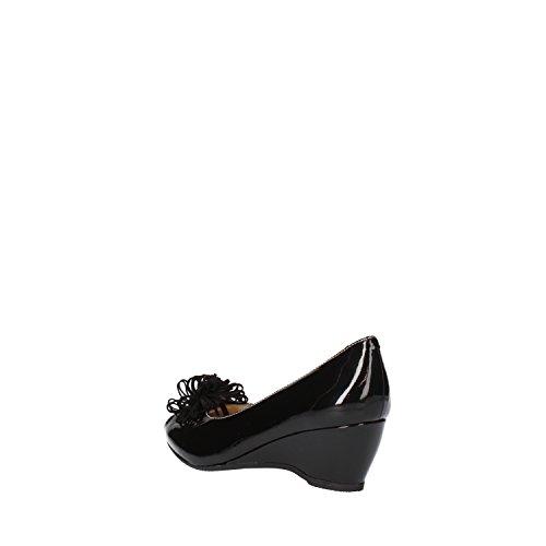 CALPIERRE mujer Zapatos de salón negro cuero de ante AG718