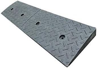 ポータブルラバースロープ、工場の駐車場ロードスロープブラックラバー車両スロープ学校病院カーブのスロープサイズ:100 * 25 * 4CM 段差プレート・スロープ (Color : Black, Size : 100*25*4CM)