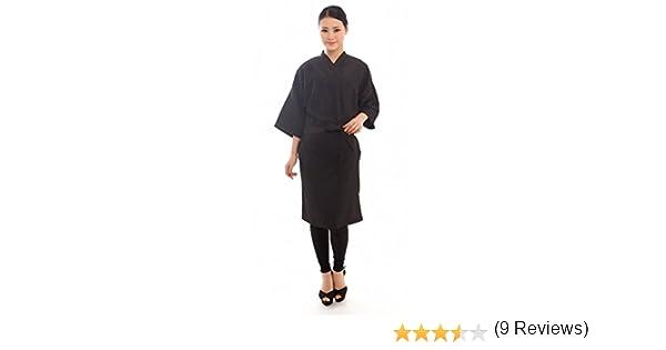 Salon Client Gown Hairdressing Gowns Kimono Style- 43 Long (Black) by Salon robes: Amazon.es: Belleza