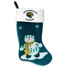 Jaguars Snowman Stocking