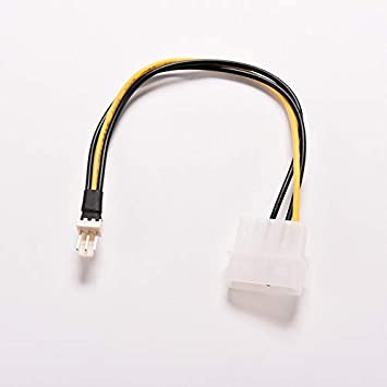 Occus 2PCS 4 Pin IDE to 3 Pin Computer CPU//Case Fan Power Connector Cable Adapter 20cm Cable Length: 20cm
