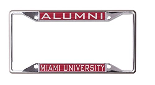 - WinCraft NCAA Miami University of Ohio Alumni License Plate Frame, metal with inlaid acrylic