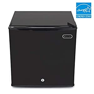 Whynter CUF-110B Energy Star 1.1 cubic feet Upright Freezer Stainless Steel door with Security Lock with Reversible Door - Black & Taylor Classic Series Large Dial Fridge/Freezer Thermometer (Color: Black, Tamaño: 1.1 Cubic Feet)