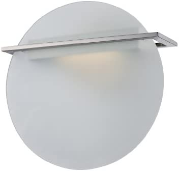 Nuvo Lighting 62 157 Latitude LED One Light Wall Sconce 4.8 Watt 285 Lumens Soft White 2700K KolourOne LED Technology Frosted Glass Polished Nickel Fixture