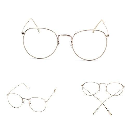 Vintage Retro Round Frame Mens Womens Bubile Fashion Clear Lens Eyeglasses - Cheap Perscription Sunglasses