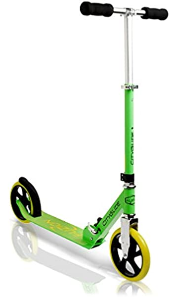 Fuzion Cityglide Adult Kick Scooter - 220lb Weight Limit - Folds Down - Adjustable Handle Bars