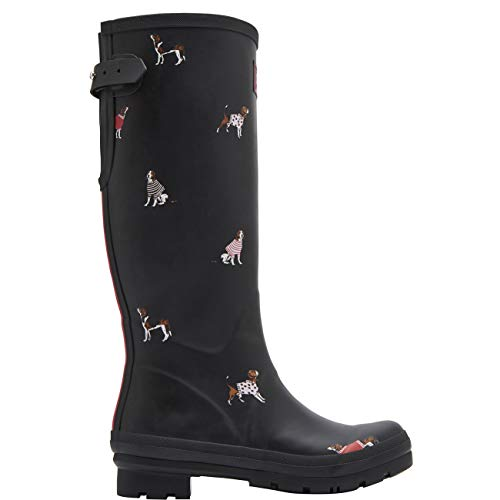 Wellyprint Blkjdog Agua Dog Botas Schwarz Mujer para de Joule Black Jumper Tom qO5Pan