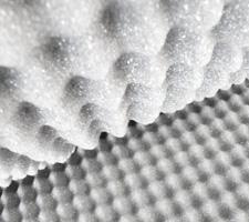 Plancha de espumas para embalaje perfilada 3/2 FR25 gris oscuro - Cráter grande 3cm