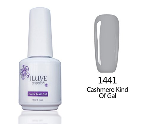 iLuve Long Lasting Soak Off Nail Polish with 238 Color Choices   1 bottle with 15ml of UV Gel Polish   Cashmere Kind Of Gal, Color #1441