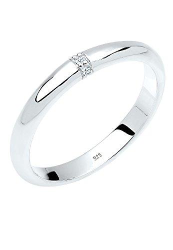 Diamore Damen-Ring 925 Sterling Silber Diamant weiß Gr.54 (17.2) 0605140213_54