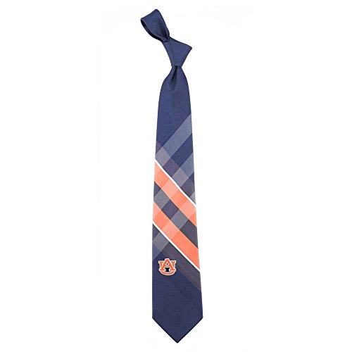 Auburn Grid Neck Tie with NCAA College Sports Team Logo