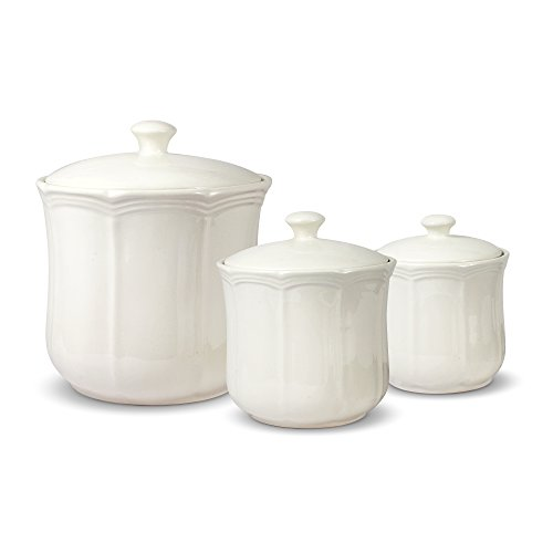 Canister French Country Set (Mikasa French Countryside Canisters, Set of 3, White)