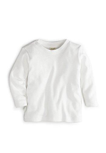 hessnatur Basic Langarmshirt aus reiner Bio-Baumwolle GOTS naturweiss 62/68