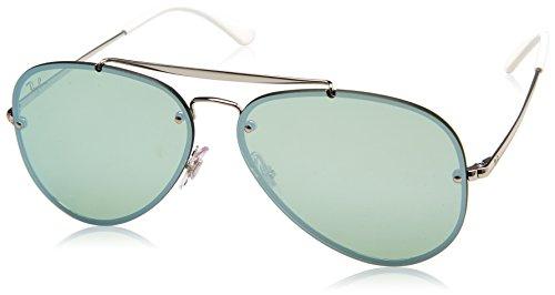 Ray-Ban 0rb3584n90513061blaze Non-Polarized Iridium Aviator Sunglasses, Silver, 61 - New 2017 Ray Ban