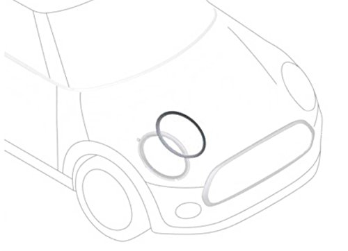 Mini Cooper Headlight Trim Chrome Right OEM Gen3 F55 F56 - Chrome Trim Cooper Cover
