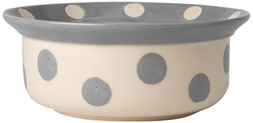 PetRageous 14017 Polka Paws Gray 4 Cups Bowl