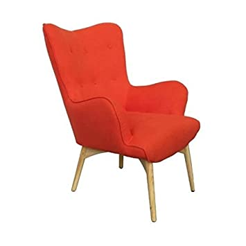 Mathi Design Sessel Skandinavischen Java Orange Amazon De Kuche