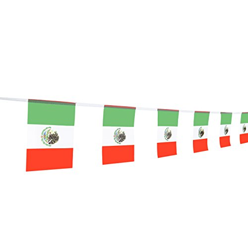 TSMD Mexico Flag, 100Feet Mexican Flag National Country World Flags Banner,Party Decorations for Grand Opening,World Cup,Olympics,Bar,Sports Clubs,School Events,International Festival Celebration -