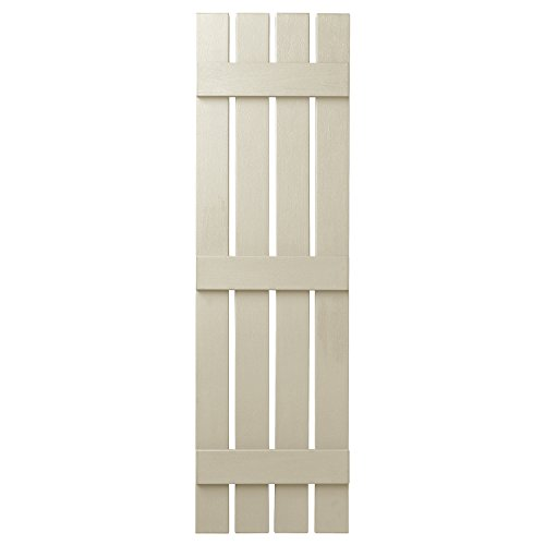Ply Gem Shutters and Accents VIN401655 CRM 4 Open Board and Batten Shutter, Sand Dollar by Ply Gem Shutters and Accents (Image #1)