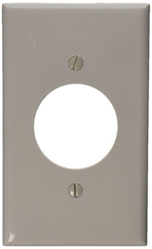 Leviton 80720-W 1-Gang 1.60-Inch Diameter, Device Receptacle Wallplate, ()