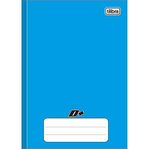 Caderno Brochura Capa Dura, Tilibra, D+, 116785, 96 Folhas, Tamanho Universitário (20x27 cm), Azul, Pautado, 1 Matéria