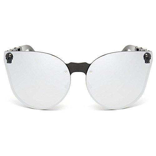 White Rimless Skull Mercury de Oversized sol Mujer Gafas Hombre Highdas Ifv8aq