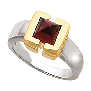 Ann Harrington Jewelry 14k 2-tone Gold Princess Or Square Cut Semi Bezel 6x6 mm Ring Setting