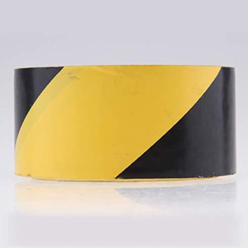 nouler Juler 48X4500Mm Hazard Warning Tape Safety Tape Stripe Hazard Tape Warning Tape Floor Wall Pipeline Equipment - Black + Yellow, 48X4500Mm,Black + Yellow,48x4500mm