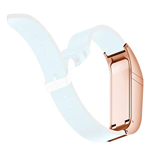 CapsA Metal Watch Protector Compatible Fitbit Flex Band Protective Watch Frame Bumper Protective Guard (Rose Gold)
