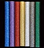 "Glitter Hot Melt Glue Sticks: Glitter Variety Sampler - 75 multi-temp sticks (5/16"" dia.) assorted glitter colors"