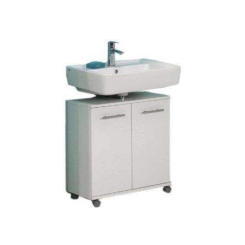 Schildmeyer 105700 Waschbeckenunterschrank, 60 x 63,5 x 32,5 cm, weiß