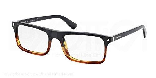 6d3b1f25b019e PRADA PR 02RV Eyeglasses TFJ1O1 Black Striped Havana 54-19-145  Prada   Amazon.co.uk  Clothing
