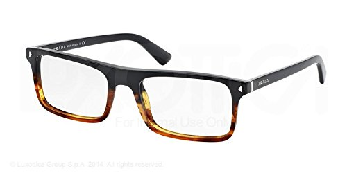 3c1053bd968 PRADA PR 02RV Eyeglasses TFJ1O1 Black Striped Havana 54-19-145  Prada   Amazon.co.uk  Clothing