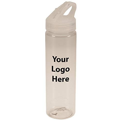 26 Oz Flip Top Freedom Sports Bottle - 50 Quantity - $3.65 Each - PROMOTIONAL PRODUCT / BULK / BRANDED with YOUR LOGO / (Identity Stainless Water Bottle)