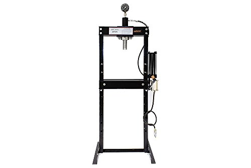 Shop Press Ton 20 Hydraulic (Wimmer 20 Ton Shop Press with Air Pump Pressure Gauge H-Frame Hydraulic Equipment 38