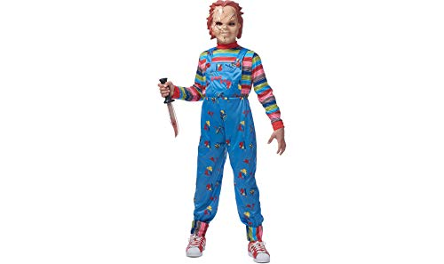 COSTUME CULTURE by FRANCO LLC Chucky Halloween Costume for Boys, Large/Extra Large, with Included -