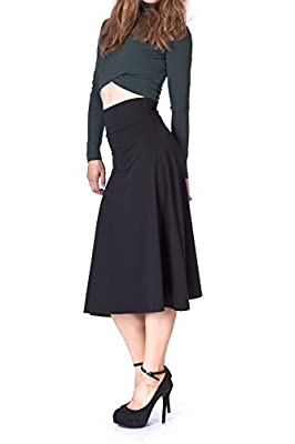 Dani's Choice Swaying Foldable High Waist A-line Full Flared Swing Skater Long Skirt