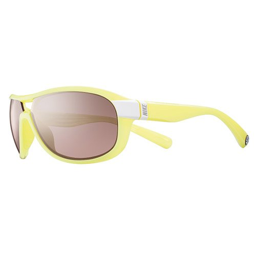 Nike Miler E Sunglasses, White/Electric Yellow, Max Speed Tint Lens