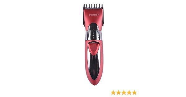 Pritech - Cortadora de cabello recargable, 2 cabezales ajustables ...