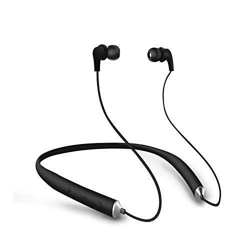UPREE V4.2 Bluetooth Headphones Wireless Neckband Headset Wireless Earphones Magnetic Stereo Noise Cancelling Earbuds Mic Up to 15 Play Time