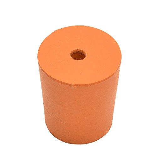Gummistopfen mit mittigem Loch, Größe 13/16 x 24 mm, 10 Stück