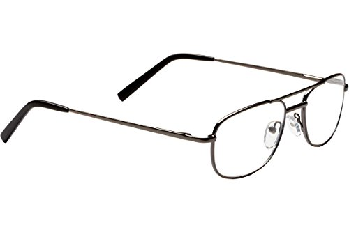 (Dr. Dean Edell Meduim Aviator Reading Glasses, Gun Metal (+1.25))