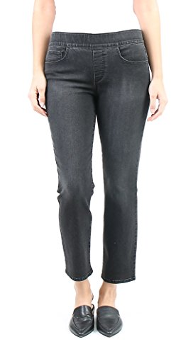 Indigo Society Women's Modern Classic Straight Crop Jean 14 Dark - 58 14