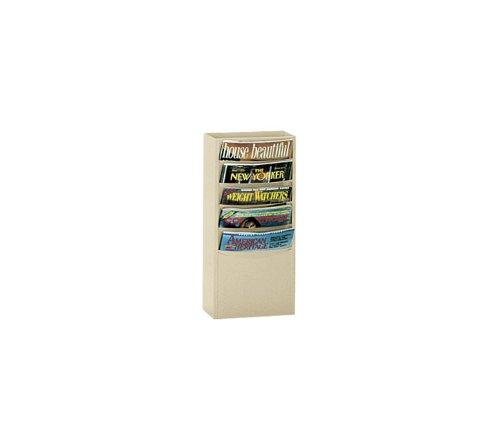 2 Literature Rack (Durham 403-08 Black Cold Rolled Steel 5 Contour Pocket Vertical Literature Rack, 9-3/4