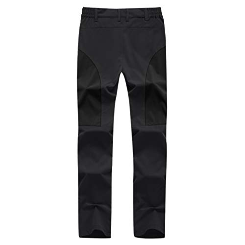 TOPUNDER Quick-Drying Waterproof Patchwork Trousers Hiking Ski Climbing Pants Tactical