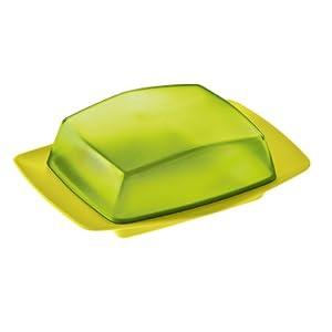 Koziol Butterdose Rio transparent oliv/solid senf