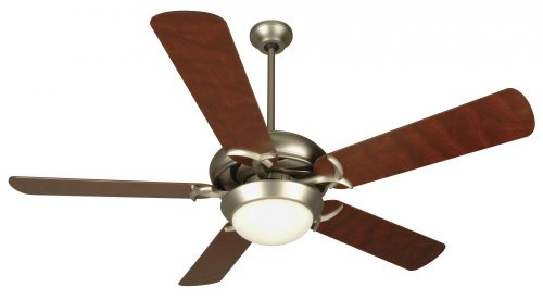 Craftmade CIU52BN5, Civic Unipack Brushed Nickel 52 Ceiling Fan with Light