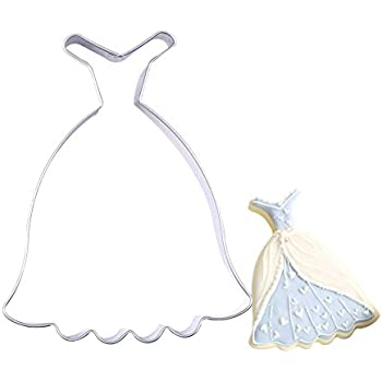 SK Lady Skirt Wedding Dress Stainless Steel Cookie Cutter Biscuit Mold